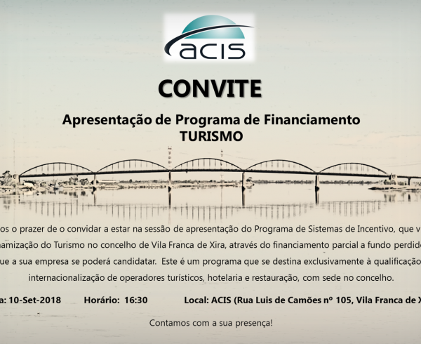 Convite ACIS_Apresentação SI Turismo